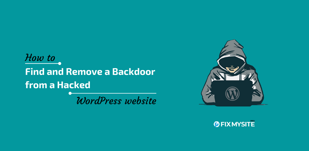 How to Find and Remove a Backdoor from a Hacked WordPress website